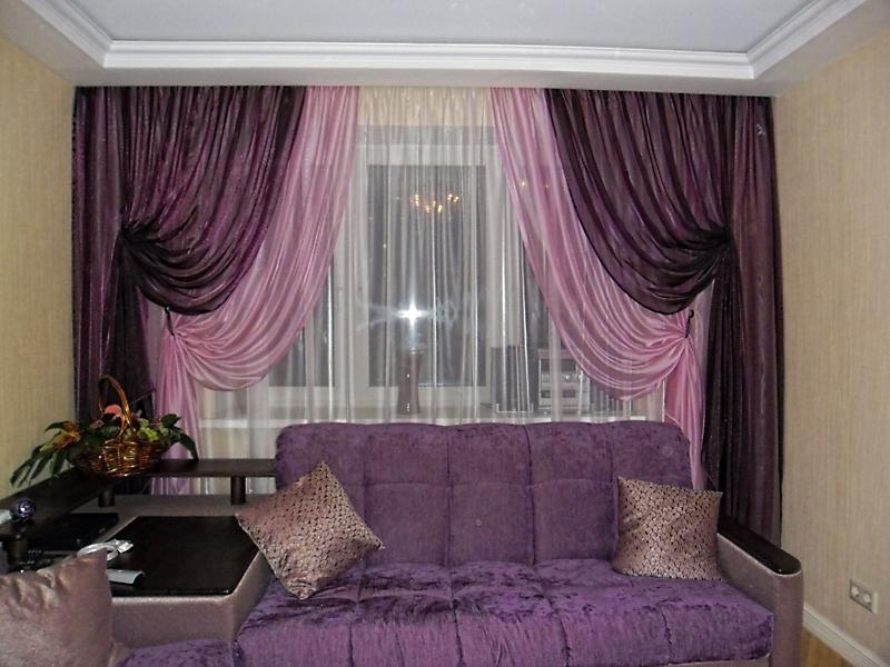 Купить шторы в гостиную фото